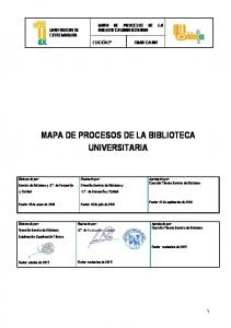 MAPA DE PROCESOS DE LA BIBLIOTECA UNIVERSITARIA