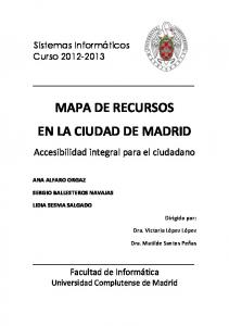MAPA DE RECURSOS EN LA CIUDAD DE MADRID