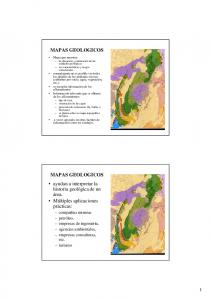 MAPAS GEOLOGICOS MAPAS GEOLOGICOS