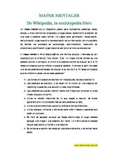 MAPAS MENTALES De Wikipedia, la enciclopedia libre