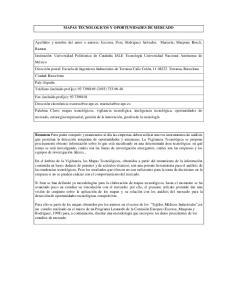 MAPAS TECNOLOGICOS Y OPORTUNIDADES DE MERCADO