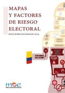 mapas y factores de riesgo electoral