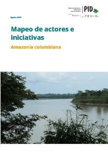 Mapeo de actores e iniciativas