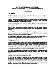 MAPEO DE AMENAZAS, RECURSOS Y VULNERABILIDADES Y EL GEOPROCESAMIENTO