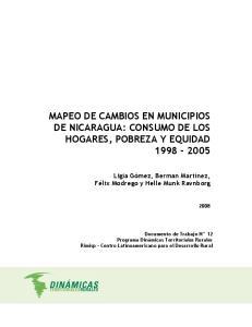 MAPEO DE CAMBIOS EN MUNICIPIOS DE NICARAGUA: CONSUMO DE LOS HOGARES, POBREZA Y EQUIDAD