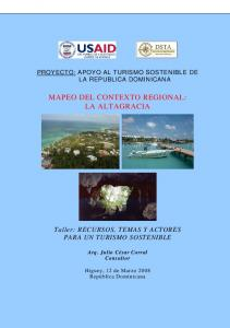 MAPEO DEL CONTEXTO REGIONAL: LA ALTAGRACIA