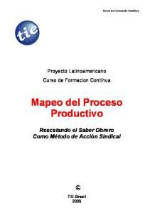 Mapeo del Proceso Productivo