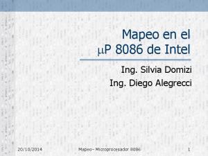 Mapeo en el P 8086 de Intel