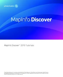 MapInfo Discover 2015 Tutorials