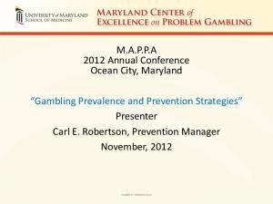 M.A.P.P.A 2012 Annual Conference Ocean City, Maryland