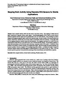 Mapping Brain Activity Using Wearable EEG Sensors for Mobile Applications