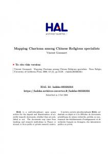 Mapping Charisma among Chinese Religious specialists