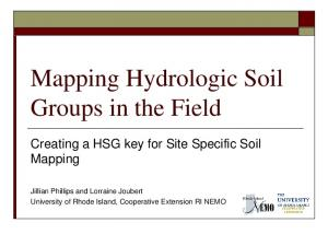 Mapping Hydrologic Soil Groups in the Field