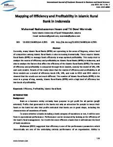 Mapping of Efficiency and Profitability in Islamic Rural Bank in Indonesia