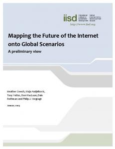 Mapping the Future of the Internet onto Global Scenarios