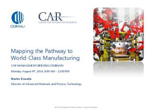 Mapping the Pathway to World-Class Manufacturing