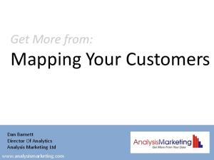 Mapping Your Customers