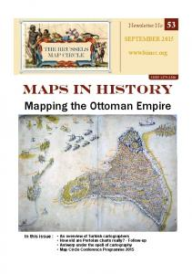 MAPS IN HISTORY. Mapping the Ottoman Empire