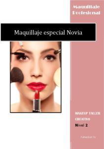 Maquillaje especial Novia