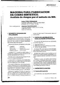 MAQUINA PARA FABRICACION DE CUERO SINTETICO