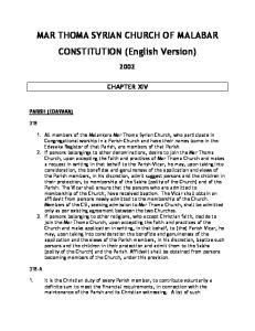MAR THOMA SYRIAN CHURCH OF MALABAR CONSTITUTION (English Version)