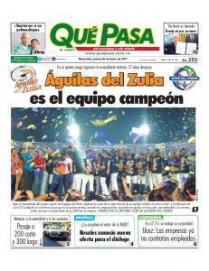 Maracaibo, jueves 26 de enero de 2017