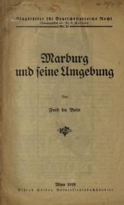 Marburg und seine Umgebung