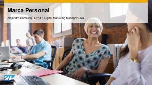 Marca Personal. Alejandra Hamelink GPO & Digital Marketing Manager LAC