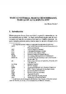 MARCAS NOTORIAS, MARCAS RENOI~1BRADAS, MARCAS DE ALTA REPUTACION 1