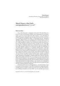 Marcel Proust y Alan Pauls: correspondencias en El pasado 1