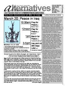 March 20: Peace in Iraq