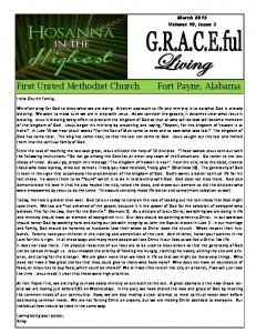March 2015 Volume 10, Issue 3. Hello Church Family,
