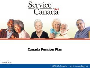 March Canada Pension Plan