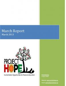 March Report March 2013