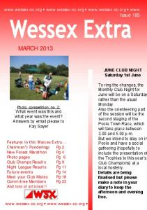 MARCH www. Issue 195. JUNE CLUB NIGHT Saturday 1st June