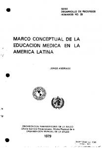 MARCO CONCEPTUAL DE LA EDUCACION MEDICA EN LA AMERICA LATINA