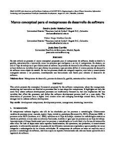 Marco conceptual para el metaproceso de desarrollo de software