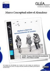 Marco Conceptual sobre el Abandono