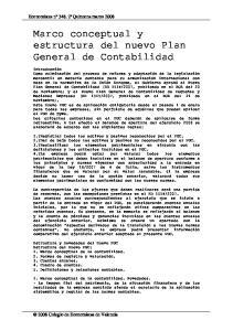 Marco conceptual y estructura del nuevo Plan General de Contabilidad
