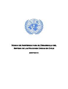 Marco de Asistencia para el Desarrollo del Sistema de las Naciones Unidas en Chile
