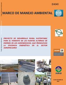 MARCO DE MANEJO AMBIENTAL