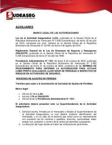 MARCO LEGAL DE LAS AUTORIZACIONES