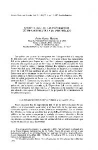 MARCO LEGAL DE LAS CONCESIONES DE INFRAESTRUCTURA DE USO PUBLICO