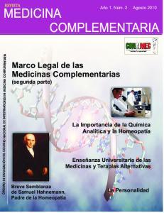 Marco Legal de las Medicinas Complementarias (segunda parte)