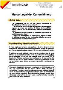 Marco Legal del Canon Minero