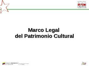Marco Legal del Patrimonio Cultural