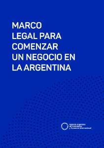 Marco Legal para comenzar un negocio en Argentina