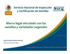 Marco legal vinculado con las semillas y variedades vegetales