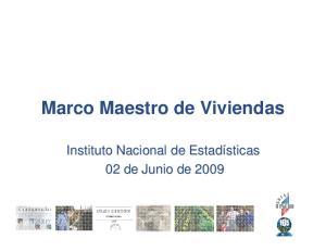 Marco Maestro de Viviendas