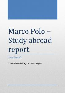 Marco Polo Study abroad report